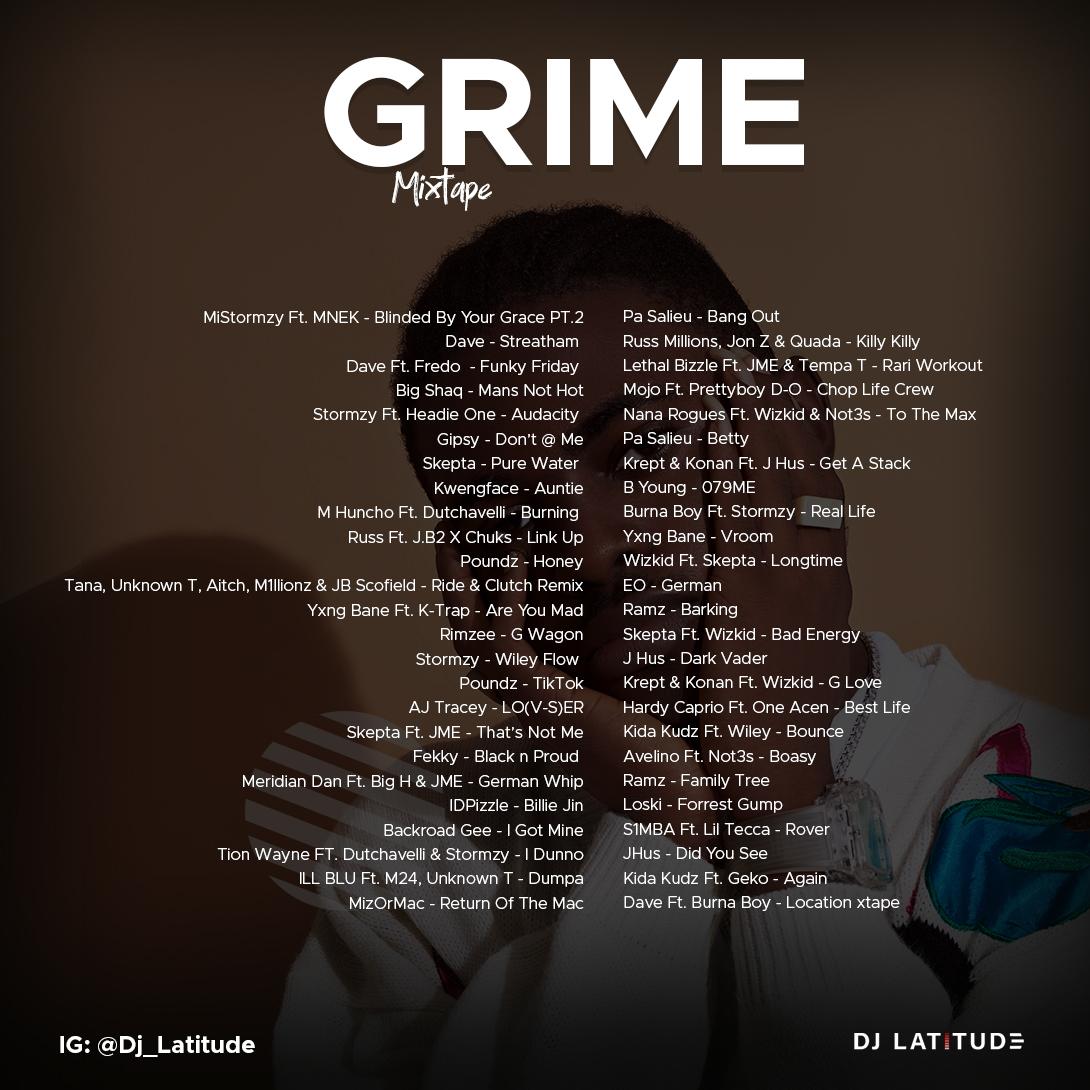 Grime Mixtape Tracklist