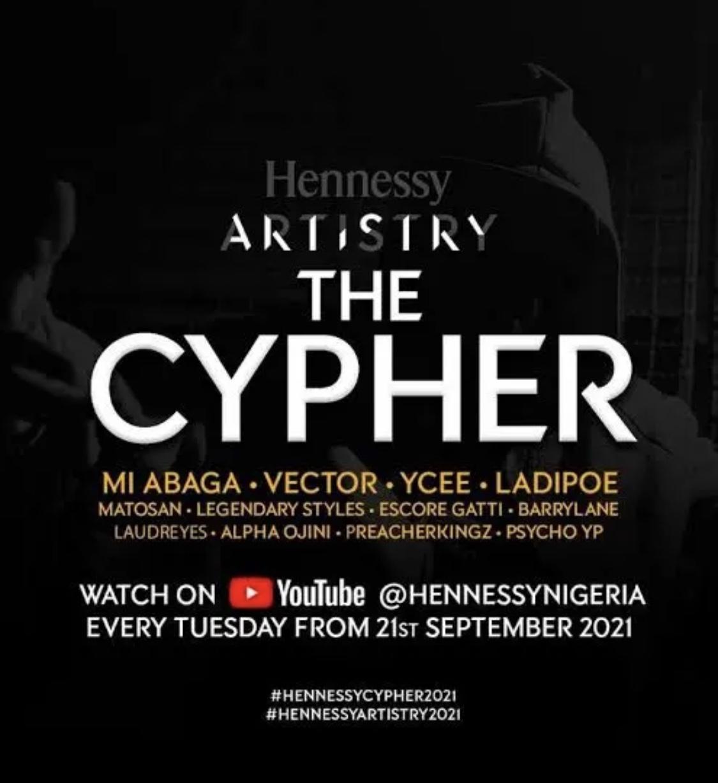 LadiPoe, M.I Abaga, Vector, Ycee – Hennessy Cypher 2021